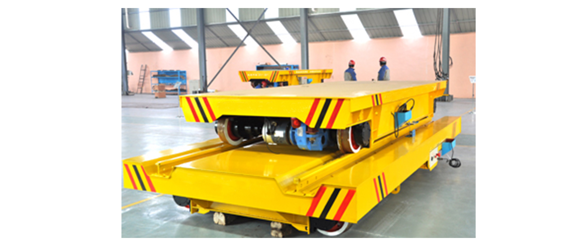Assembly line rail traverser for ferry condition