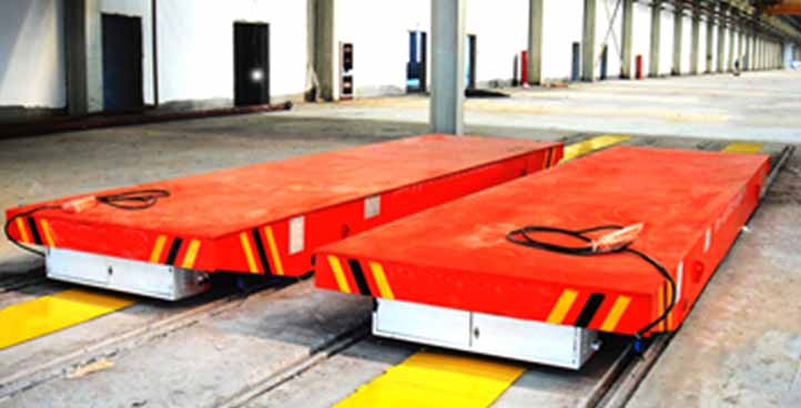 Factory production line Busbar powered rail ferry cart