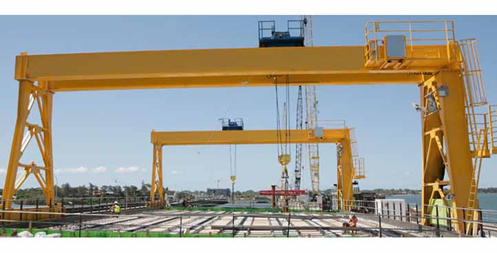 MH light duty single girder hoist gantry crane
