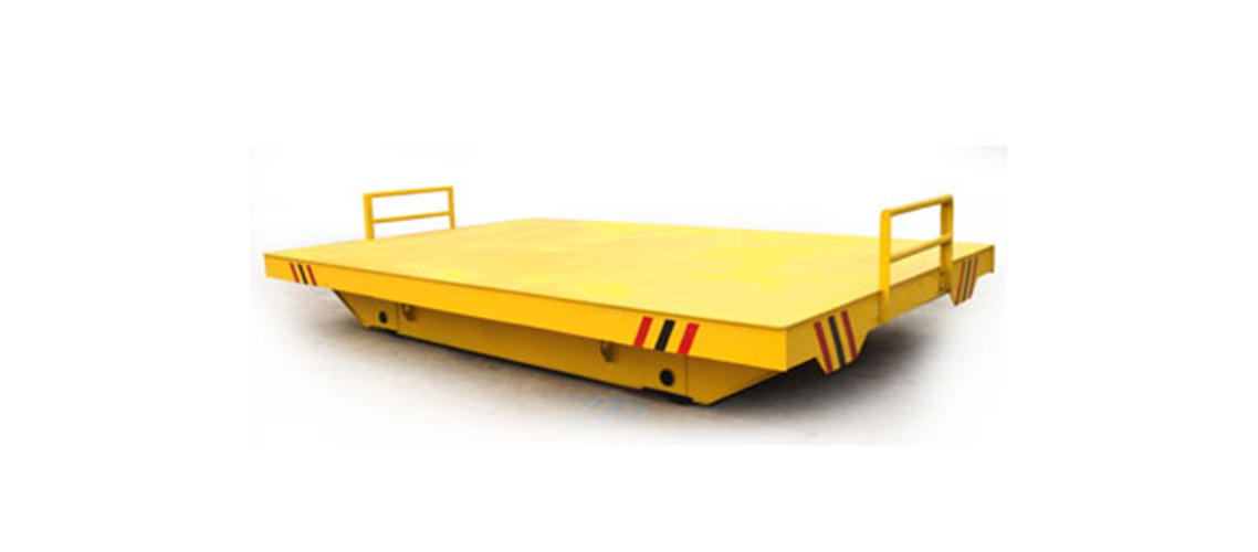 Manual pull material transfer flat wagon on rail -1138-500
