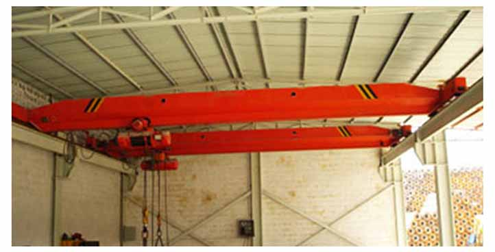 Single girder electric overhead crane with hoist
