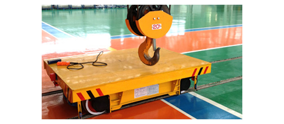 Steel coil production line apply transfer track cart-1138-500